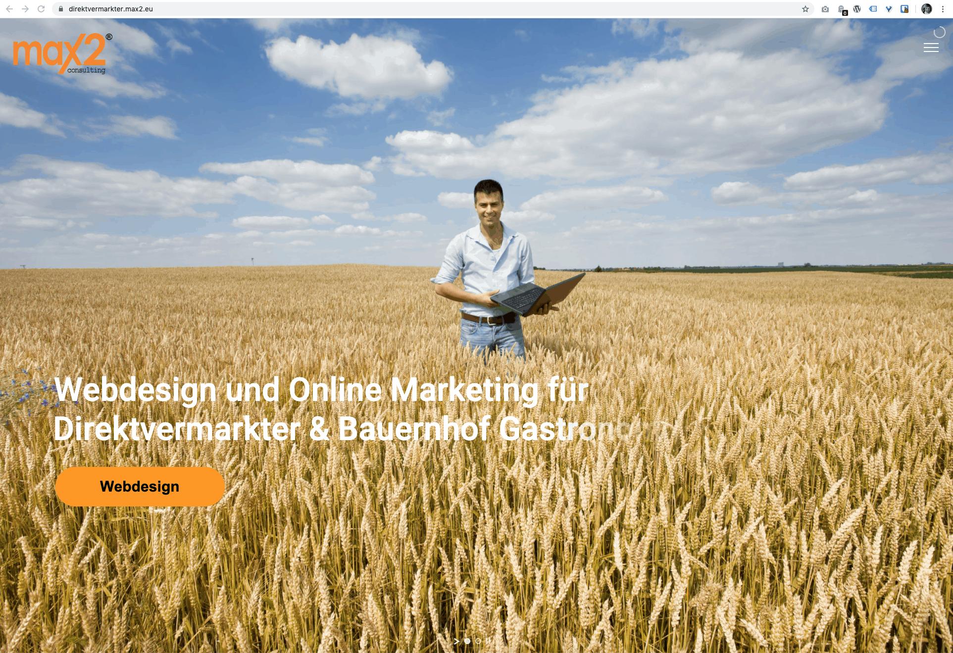 Webdesign und Online Marketing für Direktvermarkter & Bauernhof Gastronomie